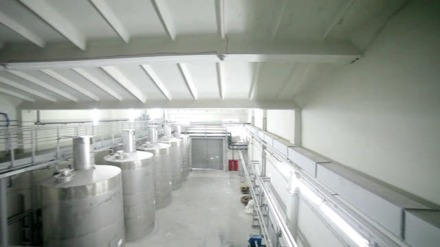 large tanks in the industrial plant video