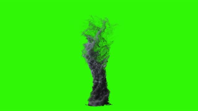 Large Torando Seamless Loop, Green Screen Chromakey 4K