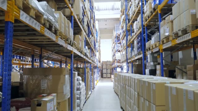 Large warehouse logistic center video