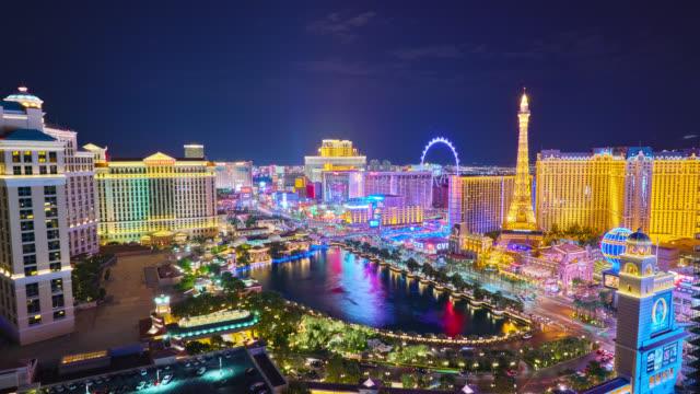 Luftbild Las Vegas bei Nacht – Video