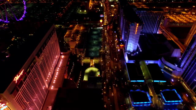Las Vegas Aerial Cityscape Strip Night video