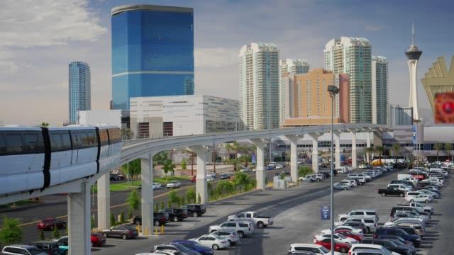 Las Vegas Monorail Passes Convention Center