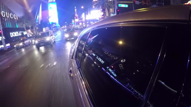 Las Vegas Strip Limo Time Lapse Las Vegas Strip Limo Time Lapse luxury car stock videos & royalty-free footage