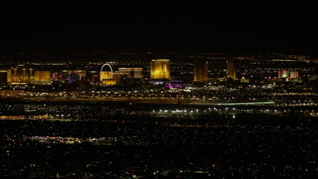 Las Vegas Strip View at Night video