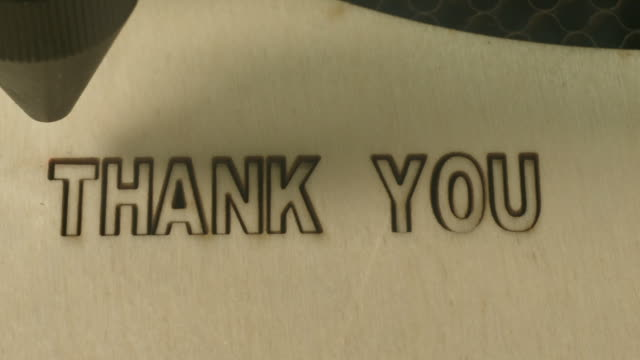 Laser cut thank you video