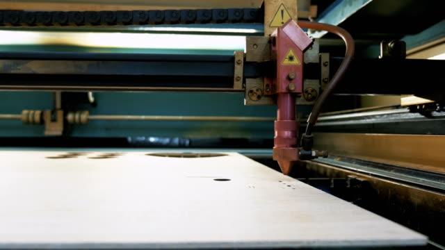 Laser cutting machine at work video