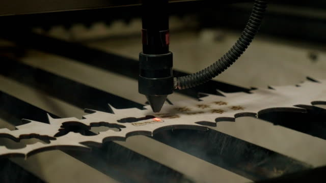 Laser cutting on wood video