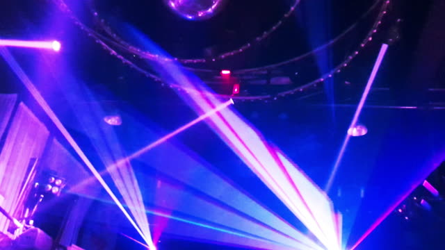 Laser disco lights party with flashing at night clubbing Laser disco lights at night party dancing in the club pattaya stock videos & royalty-free footage
