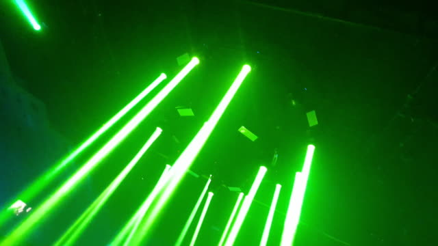 Laser disco lights party with flashing at night Laser disco lights at night laser stock videos & royalty-free footage