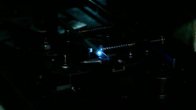 Laser engraved line video