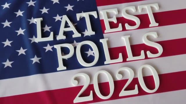 vídeos y material grabado en eventos de stock de encuestas más recientes 2020 - polling place
