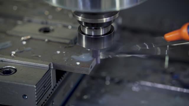 CNC Lathe Machine Produces Metal video