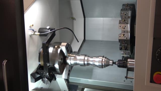 CNC lathe machine video
