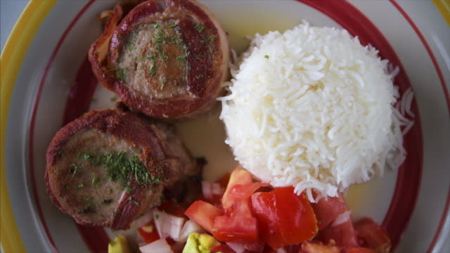 Latin American cuisine: cooked pork fillet