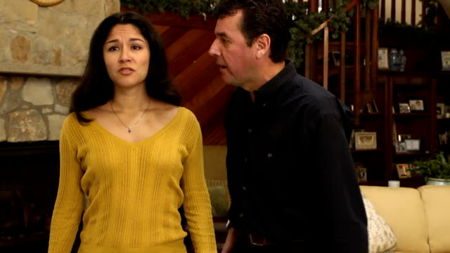 Latin Couple Argue in Home - MWS video