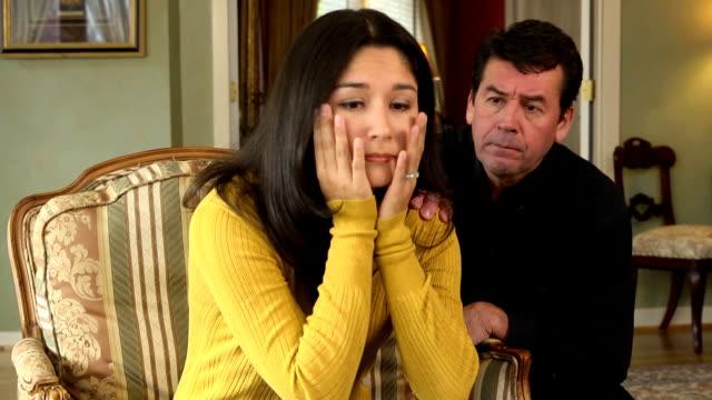 Latin Husband Comforts Wife video