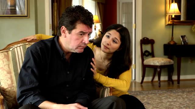 Latin Wife Comforting Husband video