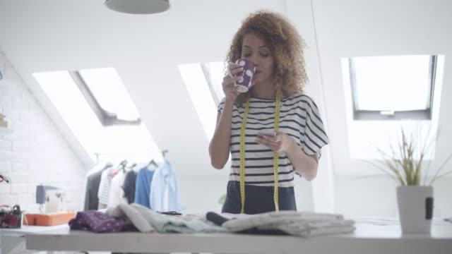 Latina Tailor In Her Workshop video