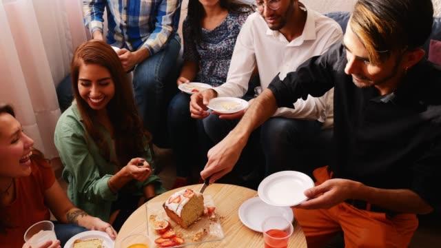 Latino friend at birthday party - 4k video