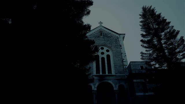 Latrun monastery at night