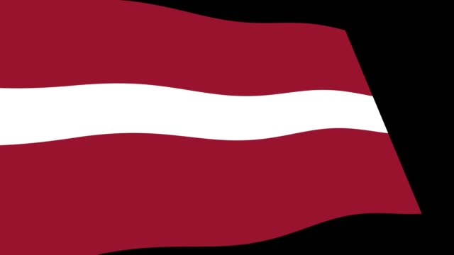 latvia flag slow waving in perspective, animation 4k footage - politica e governo video stock e b–roll