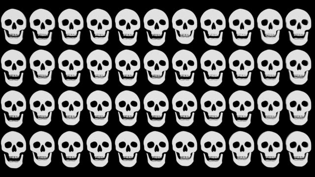 Laughing Skulls An animation where Skulls open their mouths. animal skeleton stock videos & royalty-free footage