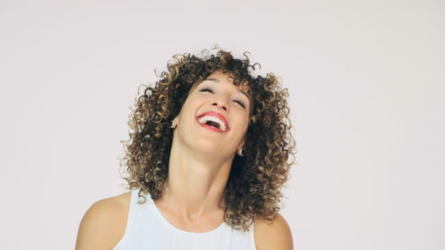 Laughing Woman High Key in Studio video