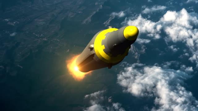 vídeos y material grabado en eventos de stock de lanzamiento de cohete balístico de corea del norte. - norte