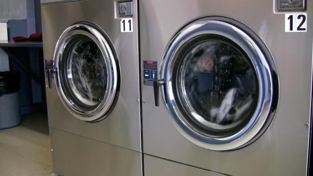 Laundromat. Two washing machines. video