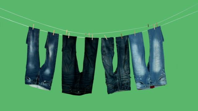 tvättservice torkning - byxor bildbanksvideor och videomaterial från bakom kulisserna