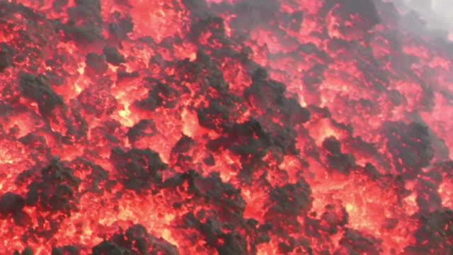 Lava flow of Volcano Etna video