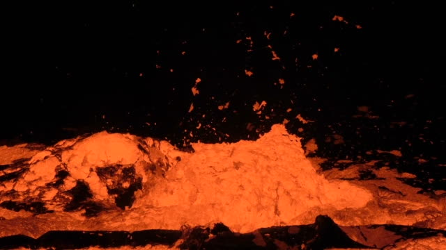 Lava lake of Volcano Erta Ale, Ethiopia