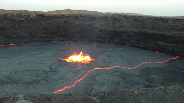 Lava lake of Volcano Erta Ale, Ethiopia video