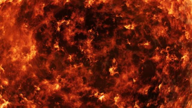lava o magma 3d anello 4 k - inferno video stock e b–roll