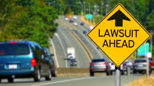 Lawsuit Ahead, Yellow Diamond Sign, Traffic Sign video