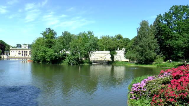 Lazienki Pond - Warsaw, Poland video