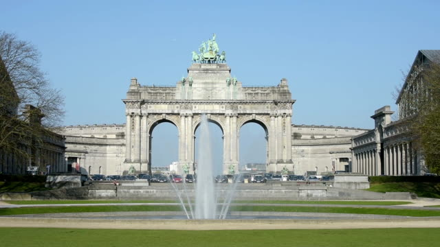Le Cinquantennaire monument in Brussels