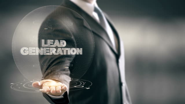 Lead Generation with hologram businessman concept video