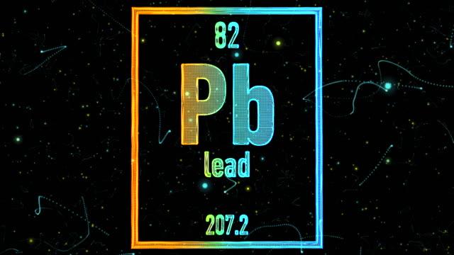 stockvideo's en b-roll-footage met lead symbool zoals in het periodiek systeem - lood