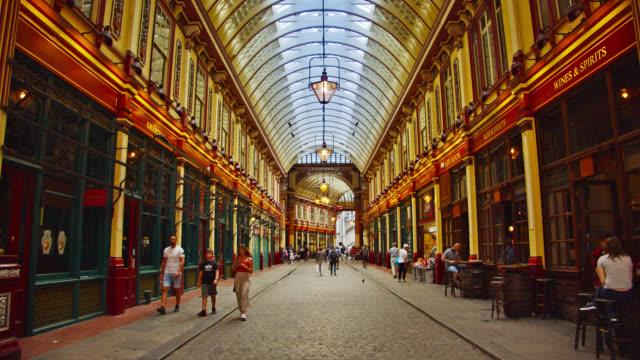 Leadenhall Market Street. London City – Video