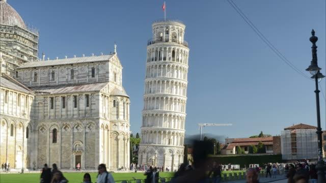 timelapse içinde görülen leaning tower - pisa kulesi stok videoları ve detay görüntü çekimi