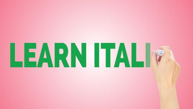 イタリア語を学ぶ - 文字記号点の映像素材/bロール