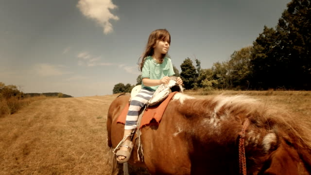 Learning to Ride a Pony-Child Riding Horse video
