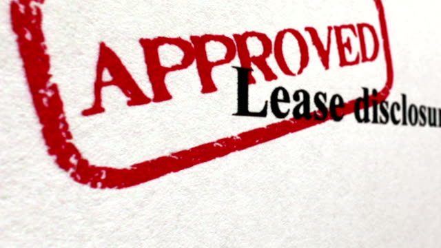 Lease disclosure approved camera slide video