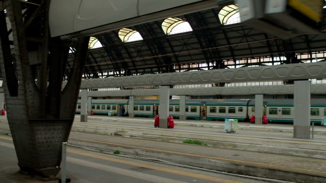 Leaving Milan Central Railway Station, Train Window Point of View video