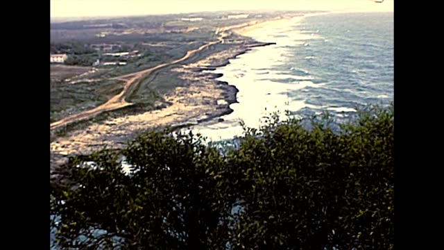 Lebanese-Israeli border aerial view in 1970s