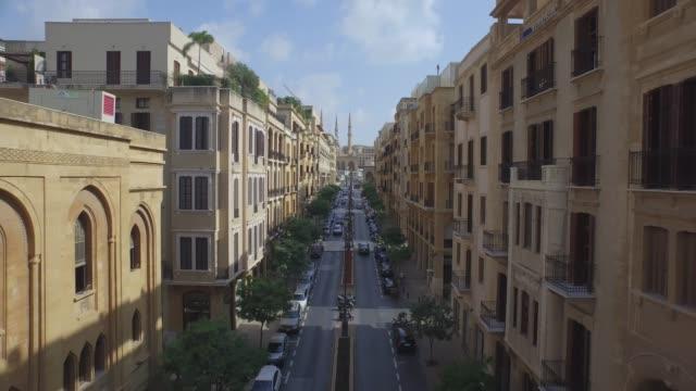 黎巴嫩 - 鳥瞰圖 - 貝魯特市中心 - lebanon 個影片檔及 b 捲影像