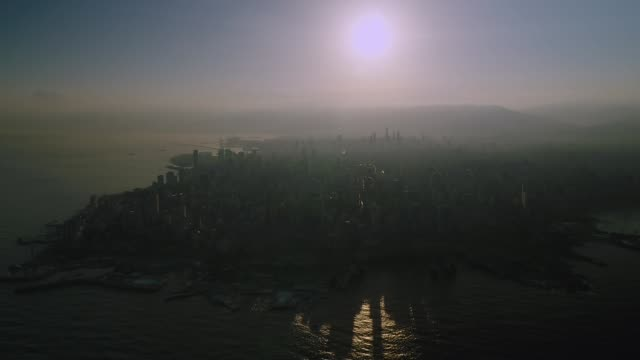Lebanon - Aerial View of All of Beirut from the Sea, at Sunrise Lebanon - Aerial View of All of Beirut from the Sea, at Sunrise beirut stock videos & royalty-free footage