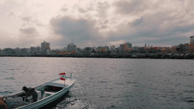 黎巴嫩 - 鳥瞰 - 輪胎 (酸) - 從海上看 - lebanon 個影片檔及 b 捲影像