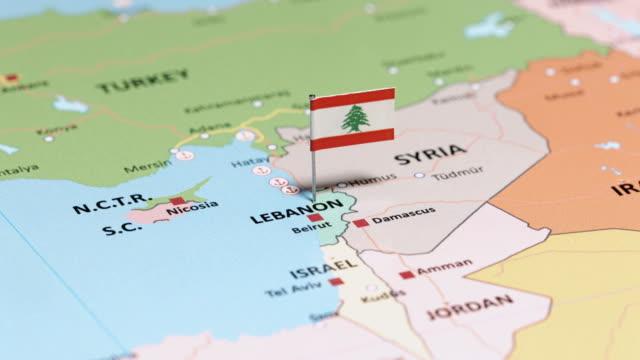 黎巴嫩國旗 - lebanon 個影片檔及 b 捲影像